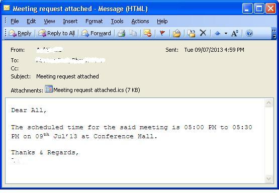 How to Create a Meeting Request as an attached calendar link | IT ...