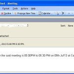 How to Create a Meeting Request as an attached calendar link