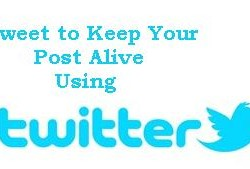 Tweet to keep your old post alive