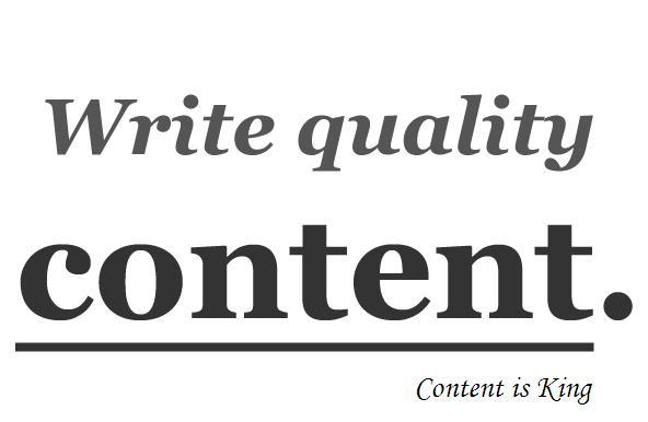 07082013 Write Quality Content