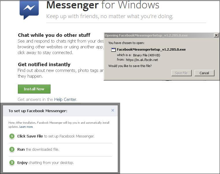Facebook CHAT from Windows