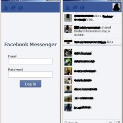 Facebook Messenger Login Screen
