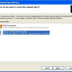 Windows XP Network Place as FTP Client