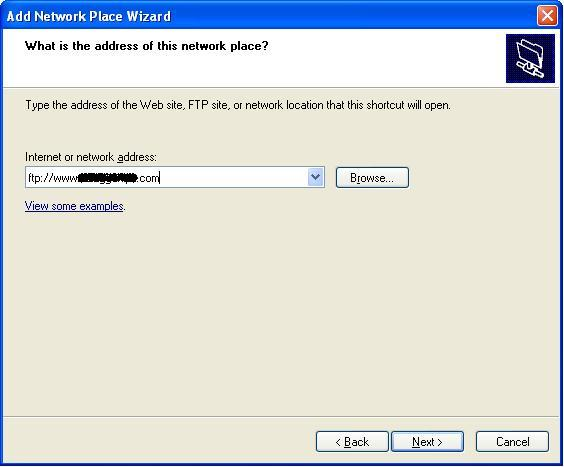 270720133 Windows XP Network Place as FTP Client
