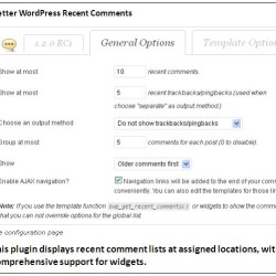 Better WordPress Recent Comments