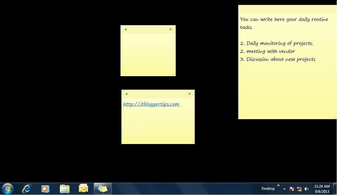 Sticky Notes Window