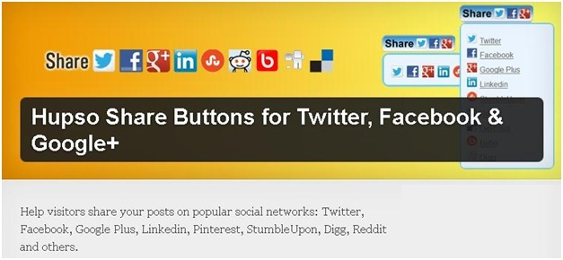 Hupso Share Buttons for Twitter Plugin