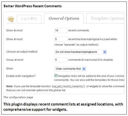 Better WordPress Recent Comments Plugin