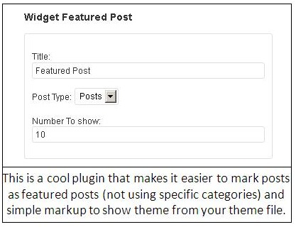 Featured Post Plugin