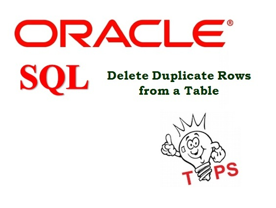 Delete Duplicate Rows from a Table