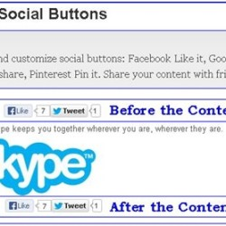 simple social buttons