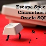 How to Escape Special Characters in Oracle SQL queries