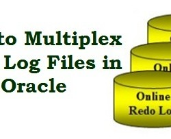 multiplex redo log files