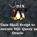 Unix Shell Script to Execute SQL Query in Oracle