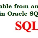 Create a Table from another Table in Oracle SQL