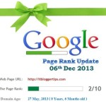 Google Toolbar PageRank Update 06th December 2013 Before Year End