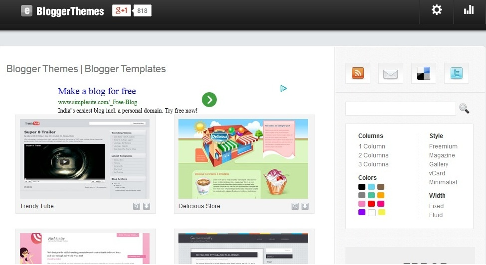 Blogger Themes and Blogger Templates
