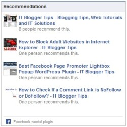 Facebook Recommendations Feed Box