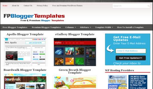 Free and Premium Blogger Templates