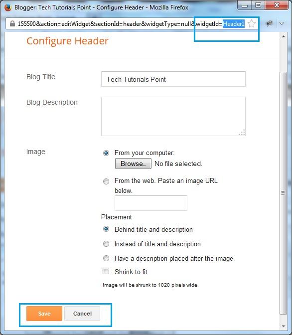 Lock or Unlock Widgets in Blogger