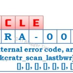 ORA-00600: internal error code – Fixed