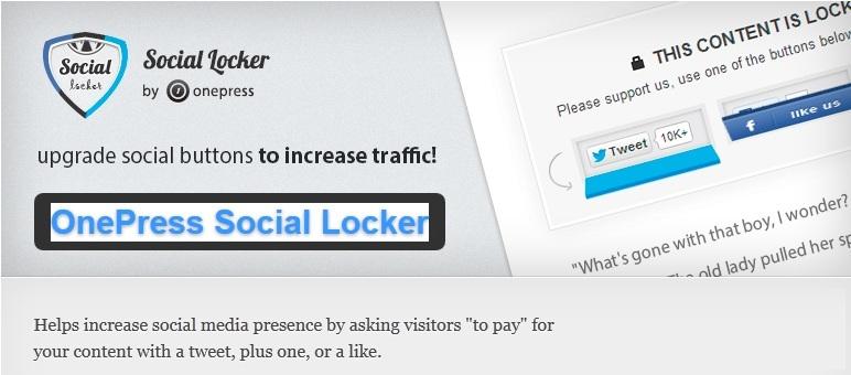 OnePress Social Locker