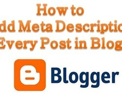 Add meta description for every post