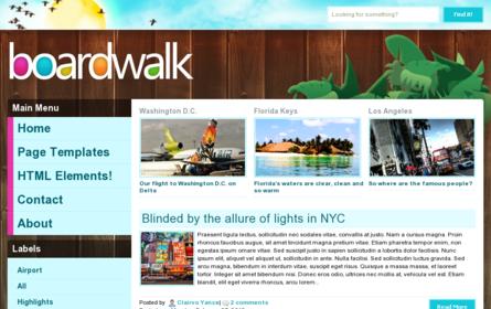 Boardwalk Blogger Template