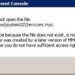 Fixed: MMC cannot open the File