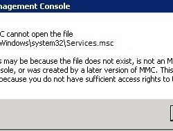 MMC Cannot Open the File