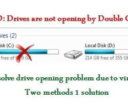Drives are not opening