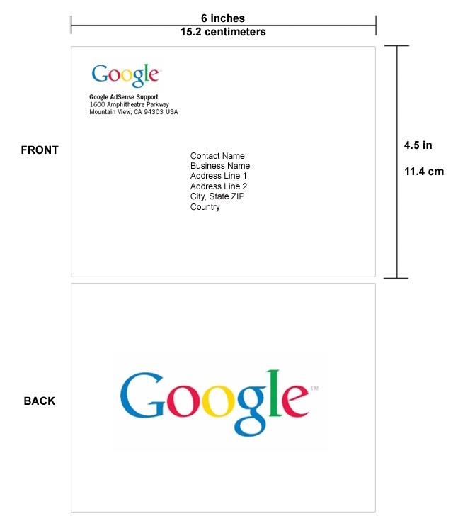 Google Adsense PIN Mailer