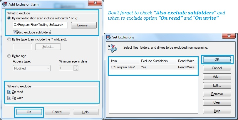 How to Add Exclusions in McAfee Antivirus Software