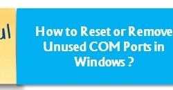 How to reset or remove unused comports