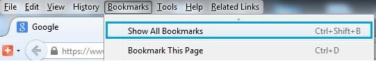 Mozilla Show All Bookmarks