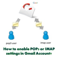 Enable POP or IMAP Settings in Gmail