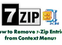 How to Remove 7-Zip Entries from Context Menu