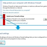 How to Restore Firewall to Default Settings in Win-7