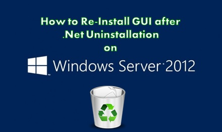 Re-Install GUI on Windows Server 2012