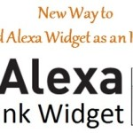 How to Display Alexa Widget as an Image to Your Website