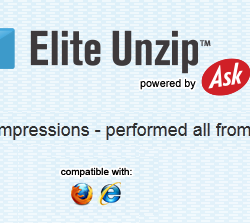 Elite Unzip Toolbar for IE & Firefox