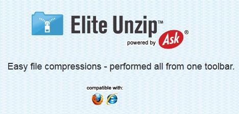 Elite Unzip Toolbar for IE & Firefox