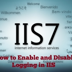 How to enable and disable logging in IIS