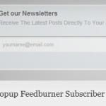 Popup Feedburner Subscriber Form – WordPress Plugin