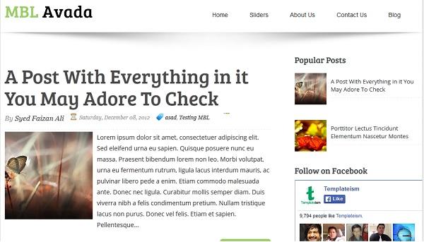 Avada Blogger Template