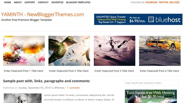 YAMINTH Blogger Template