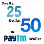 Get RS. 50 in Rs. 25