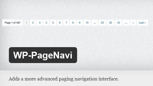 WP-PageNavi WordPress Plugin