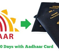 Get Passport in 10 Days with Aadhaar Card