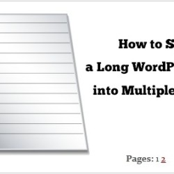 split a long wordpress page into multiple pages